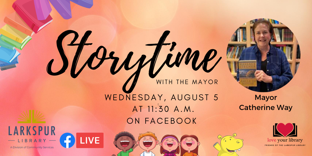 Storytime with the Mayor Wednesday August 5 at 11:30 AM