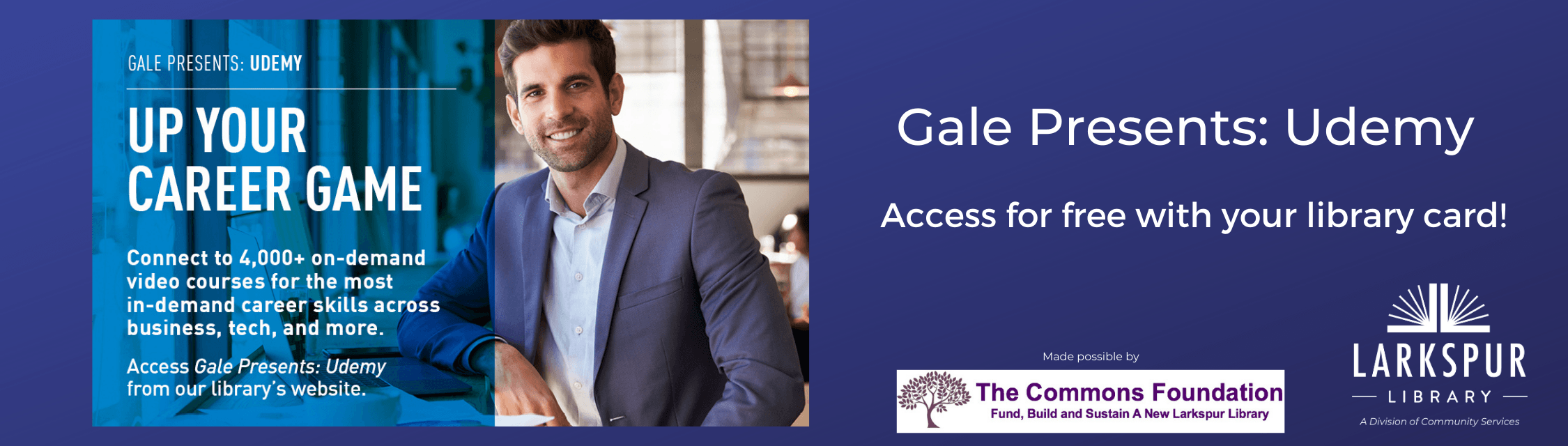 Gale Presents Udemy Access for free with your library card.
