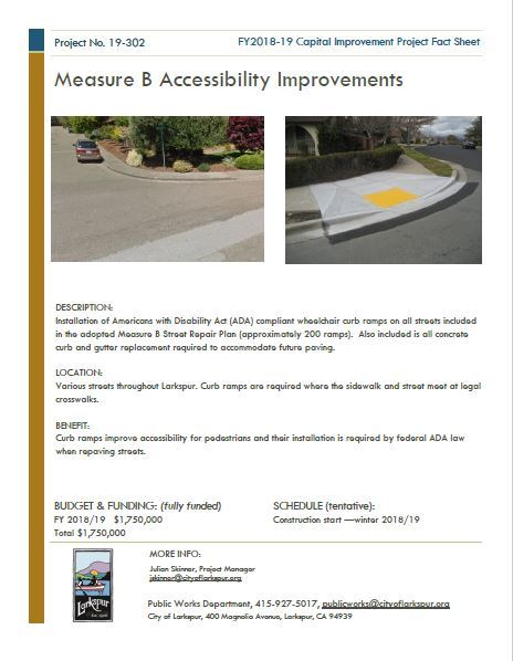 2019-302 Measure B ADA Curb Ramp Installation